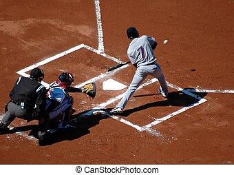 Baseball - Photographed baseball game at local field.