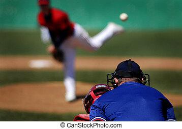 Baseball Pitcher - Baseball player wearing uniform throwing ...