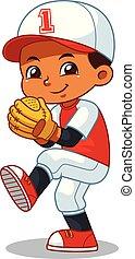 Baseball Pitcher Boy Ready To Throw