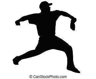 Baseball Pitcher Throwing Ball - Baseball Pitcher Hiding...