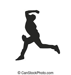 Baseball pitcher vector silhouette