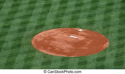 Baseball Pitchers Mound - Photographed pitchers mound at...