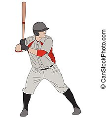 baseball player detailed illustration