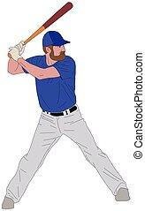 baseball player detailed illustration