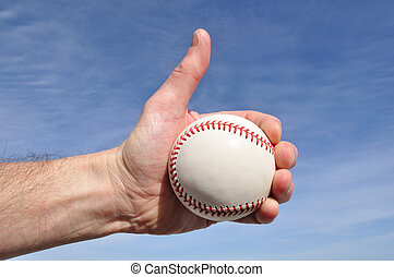 Baseball Player Giving Thumbs Up Sign