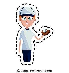 baseball player icon image