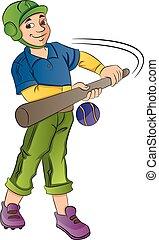 Baseball Player, illustration