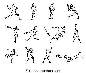 Baseball Player Motion Sketch Studies