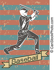Baseball player silhouette icon