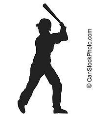 baseball player silhouette icon