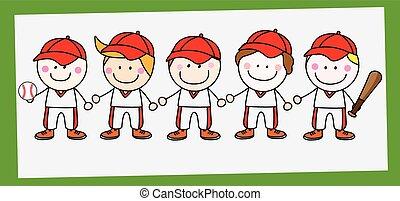 Baseball player team