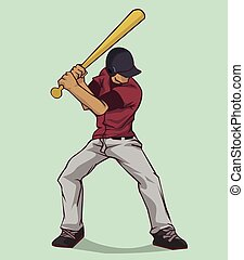 Baseball player. Vector design