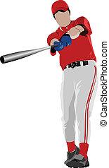 Baseball player. Vector illustrati