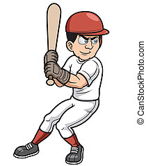 Baseball Player - Vector illustration of Baseball Cartoon...