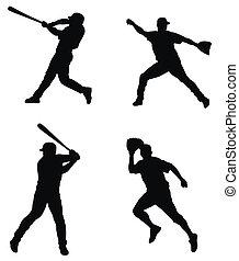 Baseball players - Abstract illustration of baseball players...