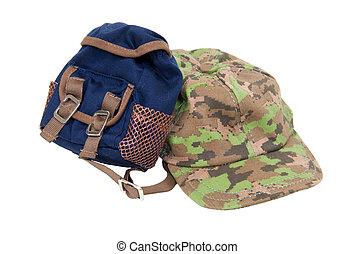 baseball, plecak, kapelusz