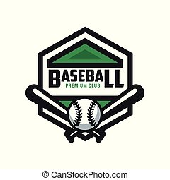 Baseball premium club logo template, design element for, badge, banner, emblem, label, insignia vector Illustration on a white background