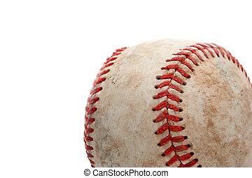 baseball, primo piano, sopra, bianco
