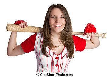 baseball, ragazza
