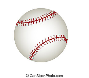 Baseball - Raster file of a baseball isolated on white