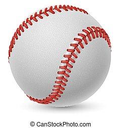 Baseball - Realistic baseball on white background for design