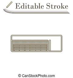 Baseball Reserve Bench Icon. Editable Stroke Simple Design. Vector Illustration.