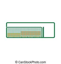 Baseball Reserve Bench Icon. Flat Color Design. Vector Illustration.