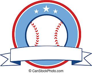 Baseball Ribbon Banner