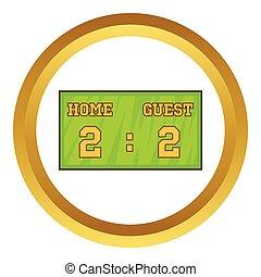 Baseball score board vector icon