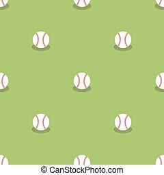 baseball, seamless, pattern., sport, baggrund.