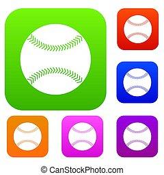 Baseball set color collection