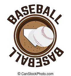 Baseball shield illustration