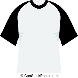 Baseball shirt icon flat isolated on white background vector illustration