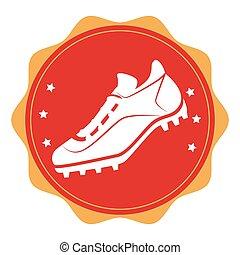 baseball shoes sport emblem icon