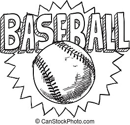 Baseball sketch - Doodle style baseball sports illustration ...