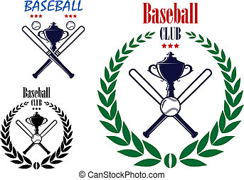 Baseball sport club emblem