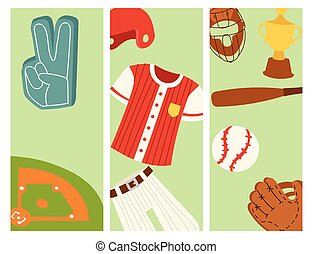 Baseball sport competition game team banner softball play...