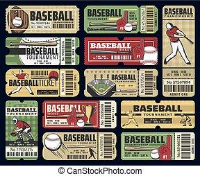 Baseball sport cup tournament tickets
