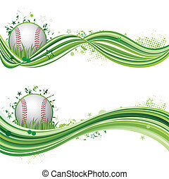 baseball, sport, disegnare elemento