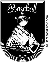 Baseball sport emblem, badge template vector illustration