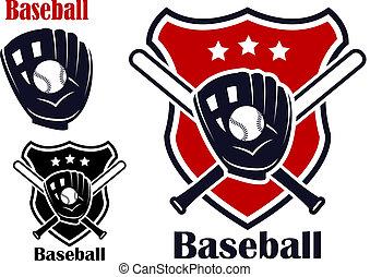 Baseball sport emblems