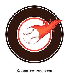 baseball sport equipment emblem icon
