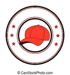 baseball sport hat emblem icon