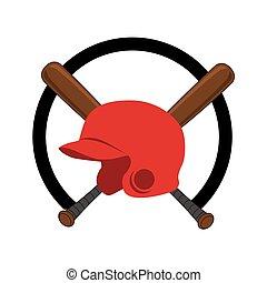 baseball sport helmet emblem icon