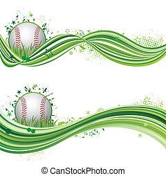baseball, sport, konstruovat nádech