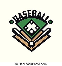 Baseball sport logo template, design element for, badge, banner, emblem, label, insignia vector Illustration on a white background