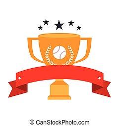 baseball sport trophy emblem icon