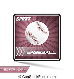 Baseball sport vector icon with ball