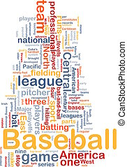 Baseball sports background concept