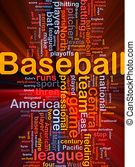 Baseball sports background concept glowing